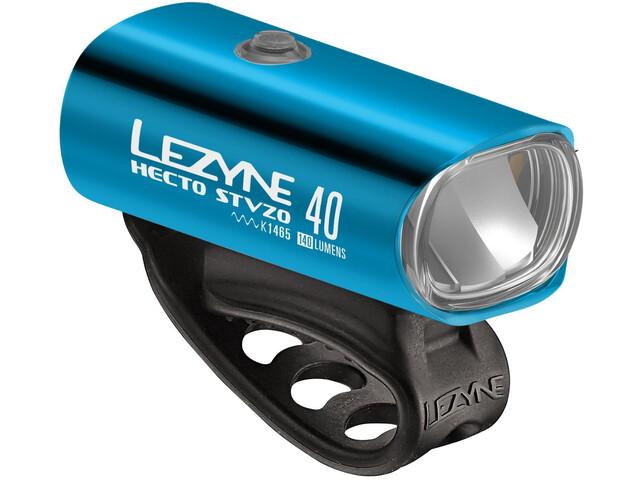 Lezyne Hecto Drive 40 Koplamp Y11, blue/glossy/white